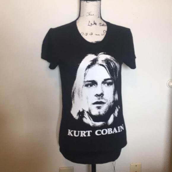 a7b56155c82 Forever 21 Tops | Nirvana Kurt Cobain Top Small | Poshmark